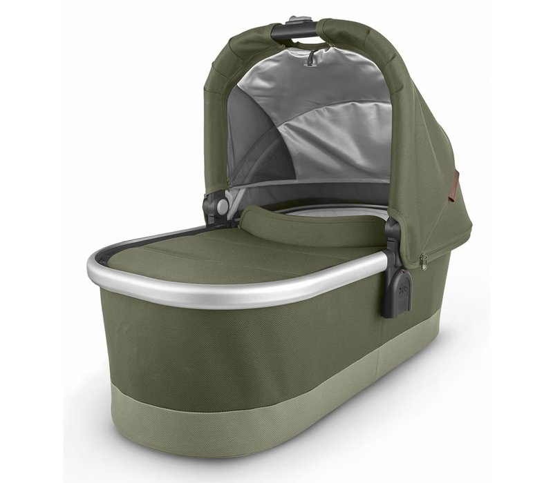 Uppa Baby Vista-Cruz V2 Bassinet - HAZEL (olive/silver/saddle leather)