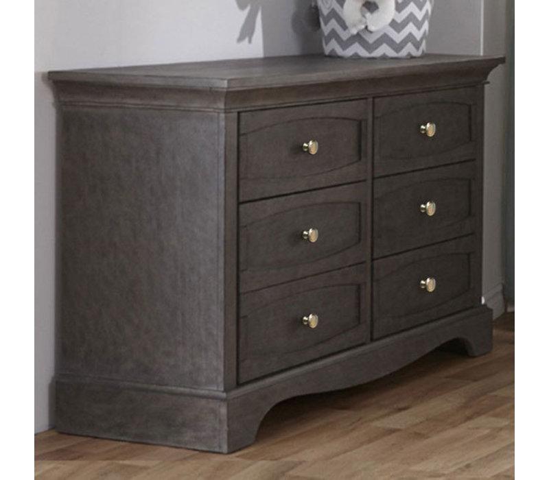 Pali Furniture Ragusa Double Dresser In Distressed Granite