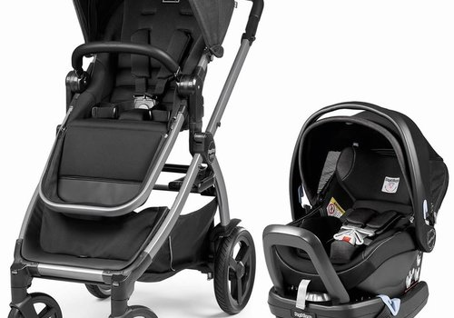 Peg-Perego Peg Perego YPSI Travel System In Onyx Includes Viaggio 4/35 Nido Car Seat