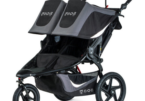 BOB 2020 BOB Revolution Flex 3.0 Duallie Double Jogging Stroller - Graphite Black