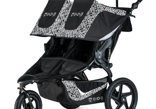 BOB 2020 BOB Revolution Flex 3.0 Duallie Double Jogging Stroller - Lunar Black