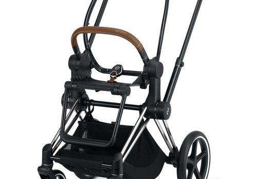Cybex 2020 Cybex ePRIAM Frame Included Seat Hardpart In Chrome Brown