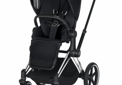 Cybex 2020 Cybex ePriam Chrome Black frame + Premium Black seat