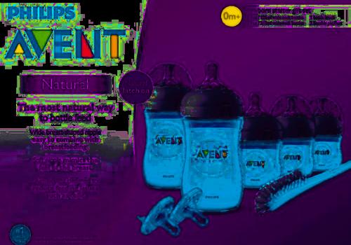 Avent Philips Avent BPA Free Natural Infant Starter Set Blue