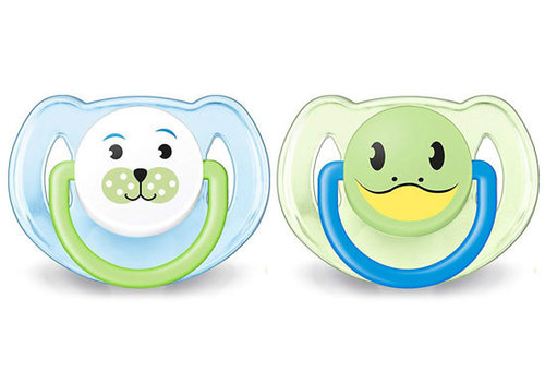 Avent Philips Avent Soother Pacifier, 6-18 Month Blue Green