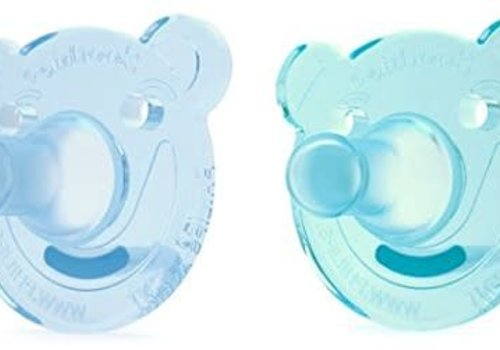 Avent Philips AVENT Soothie Bear Shape Pacifier, 0-3 Months, 2-Pack, Blue/Green