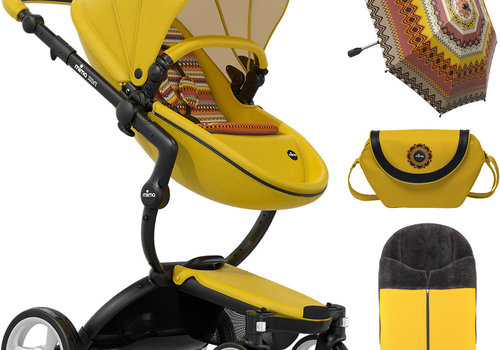 Mima Kids Mima Kids Xari Stroller Limited Edition In Yellow With Accessories