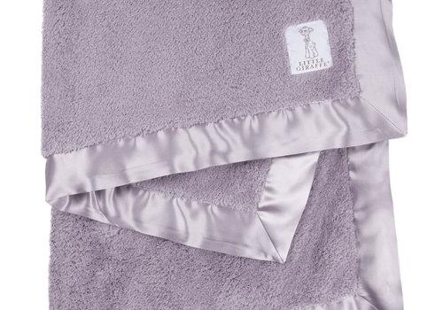Little Giraffe Little Giraffe Plush Chenille Knit Blanket In Lavender