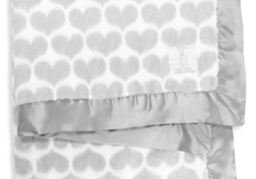 Little Giraffe Little Giraffe Luxe Diamond Blanket In Silver