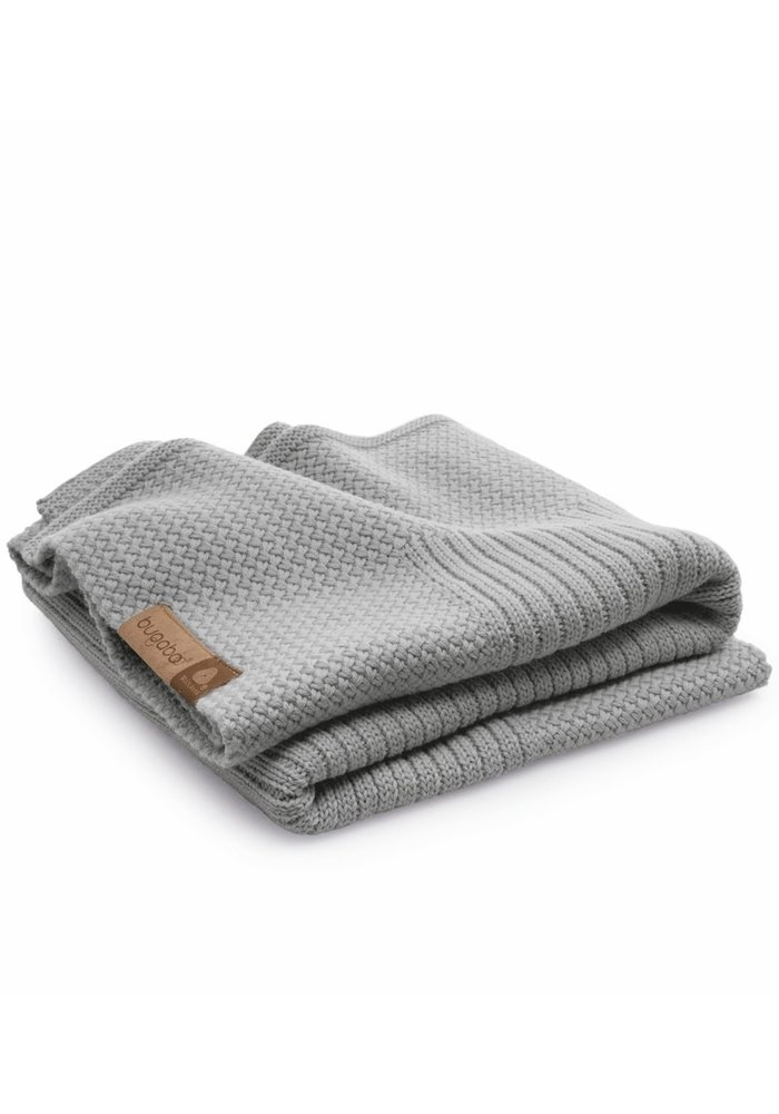 Bugaboo Wool Blanket 100% Extra Fine Merino Wool In Light Grey Melange