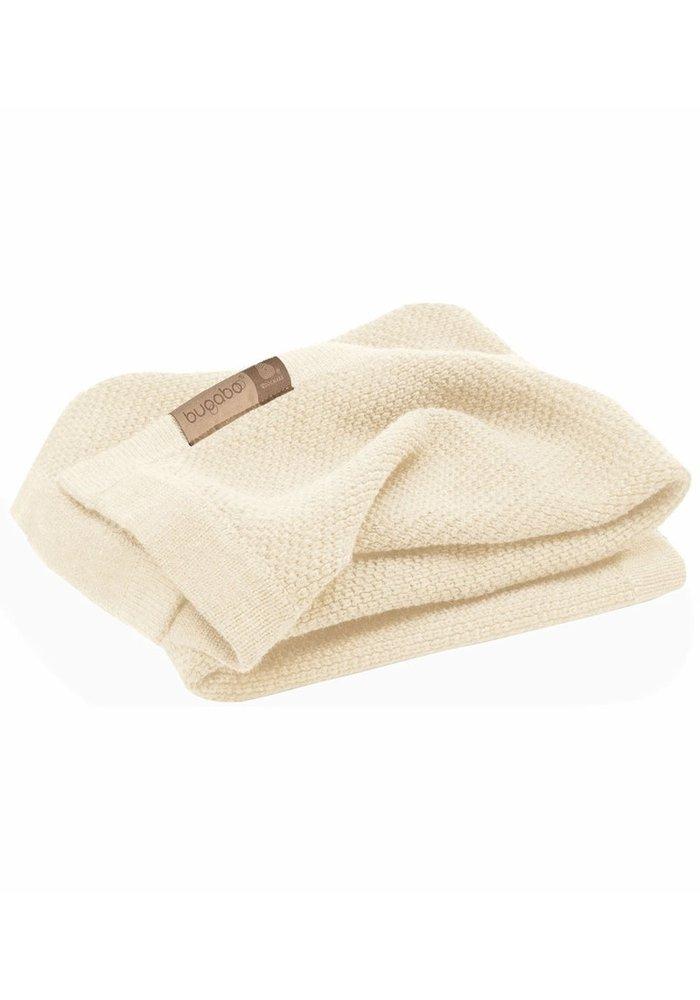 Bugaboo Wool Blanket 100% Extra Fine Merino Wool In Off White Melange
