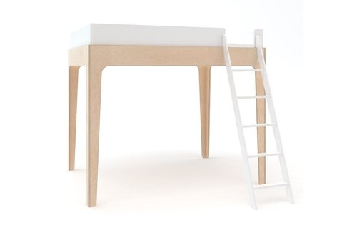 Oeuf Oeuf Perch Collection Twin Size Loft Bed In White/Birch