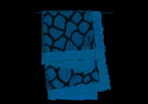 Little Giraffe Little Giraffe Print Blanket In Blue