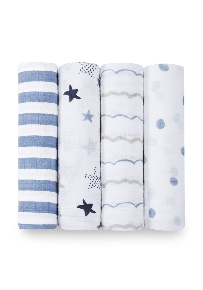 aden + anais Rock Star  Classic Swaddles (4 Pack)