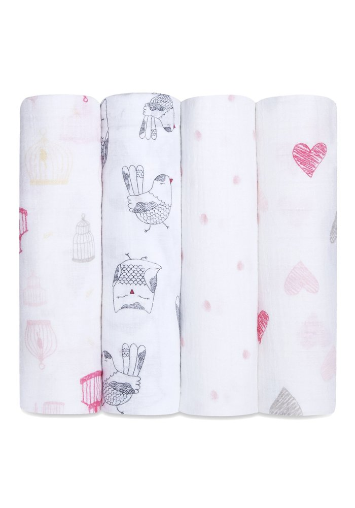 aden + anais Love Bird Classic Swaddles (4 Pack)