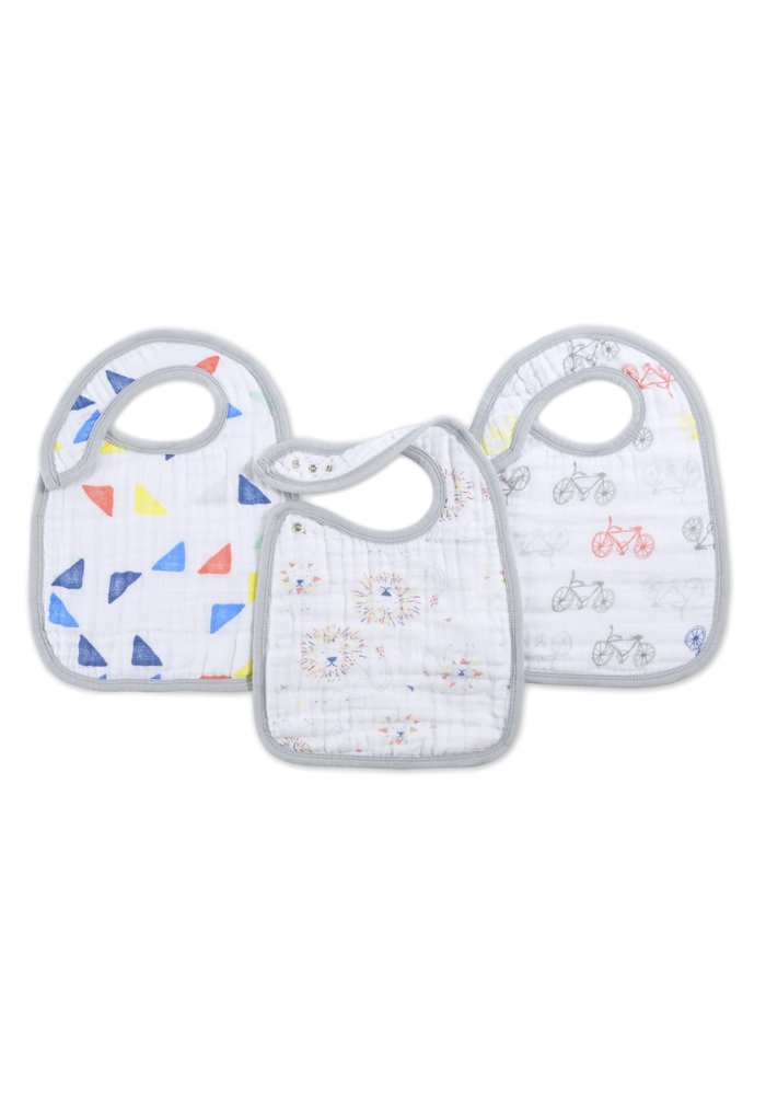 aden + anais Leader Of The Pack Snap Bibs (3 Pack)