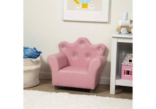 Melissa And Doug Melissa And Doug Child's Crown Armchair-Pink Faux Leather