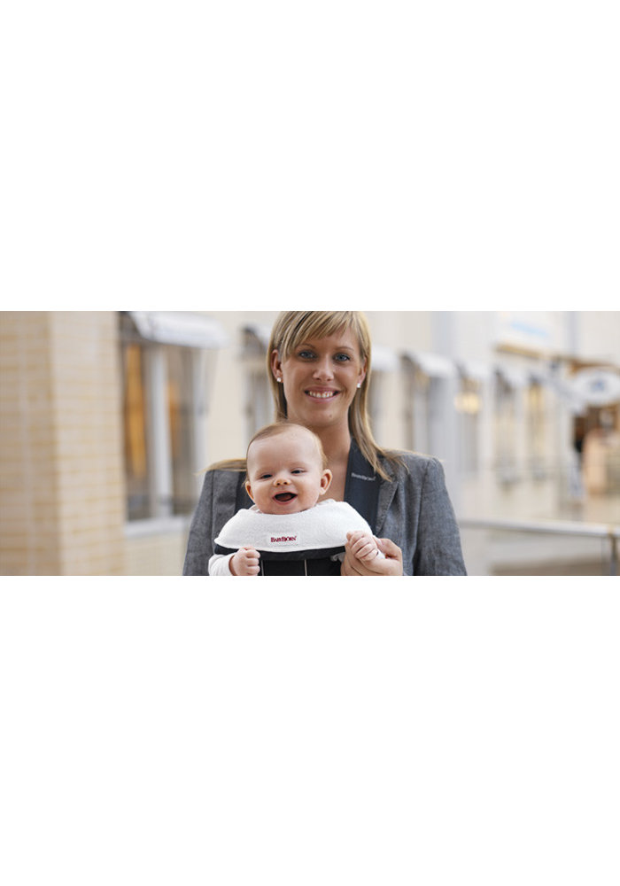 CLOSEOUT!! BABYBJORN Bib For Baby Carrier 2 Pack- White