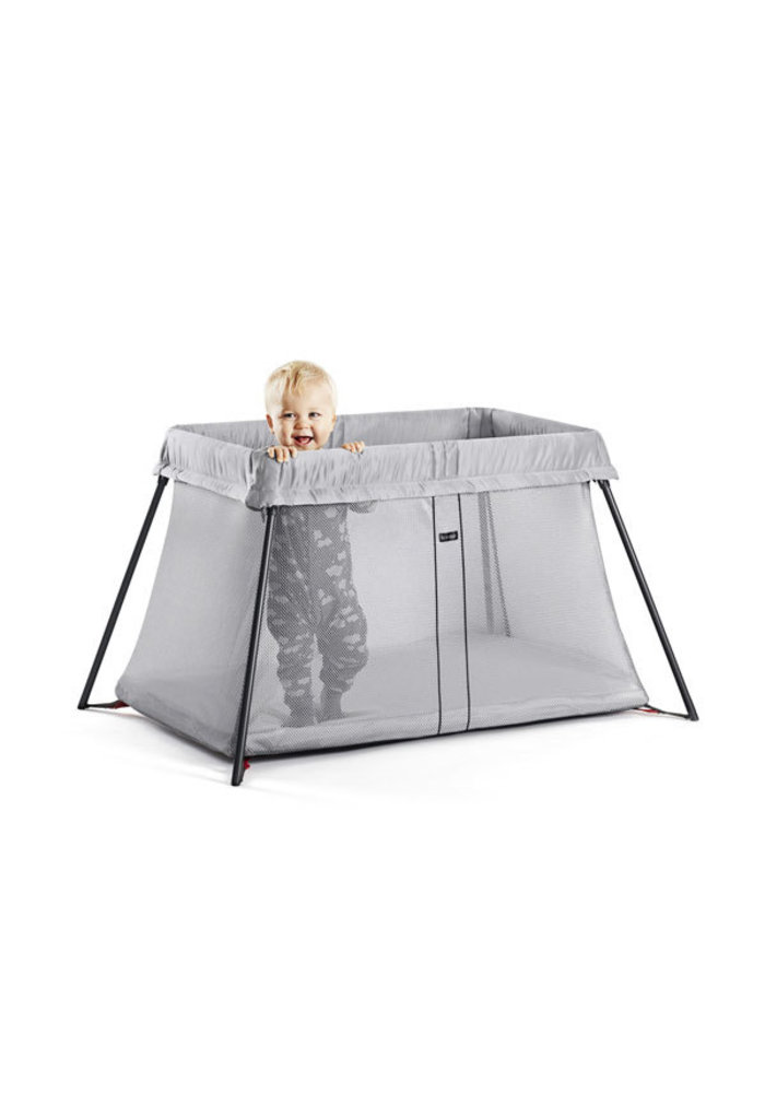 BABYBJORN Travel Crib Light In Silver Mesh