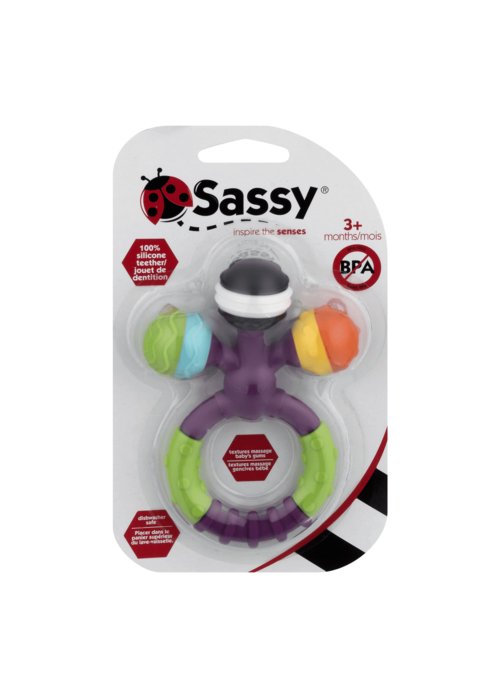 Sassy Sassy Prongy Ball Rattle Teether
