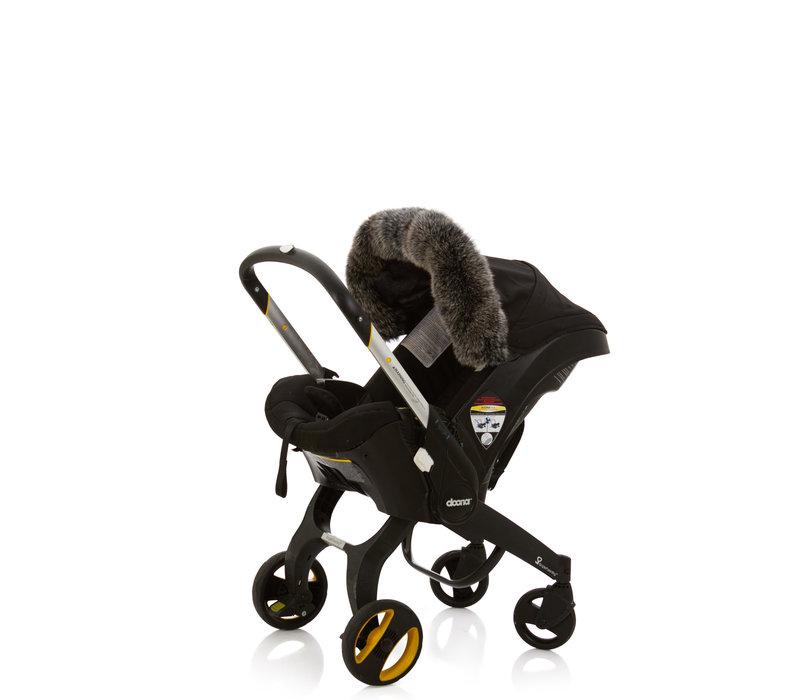 Baby Frr Fur For Doona In Black & White