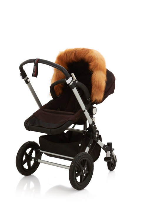 Baby Frr Baby Frr Fur For Stroller In Red Fox