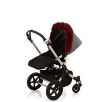 Baby Frr Fur For Stroller In Burgundy