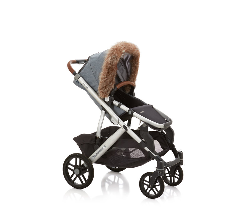 Baby Frr Fur For Stroller In Coffee Fox