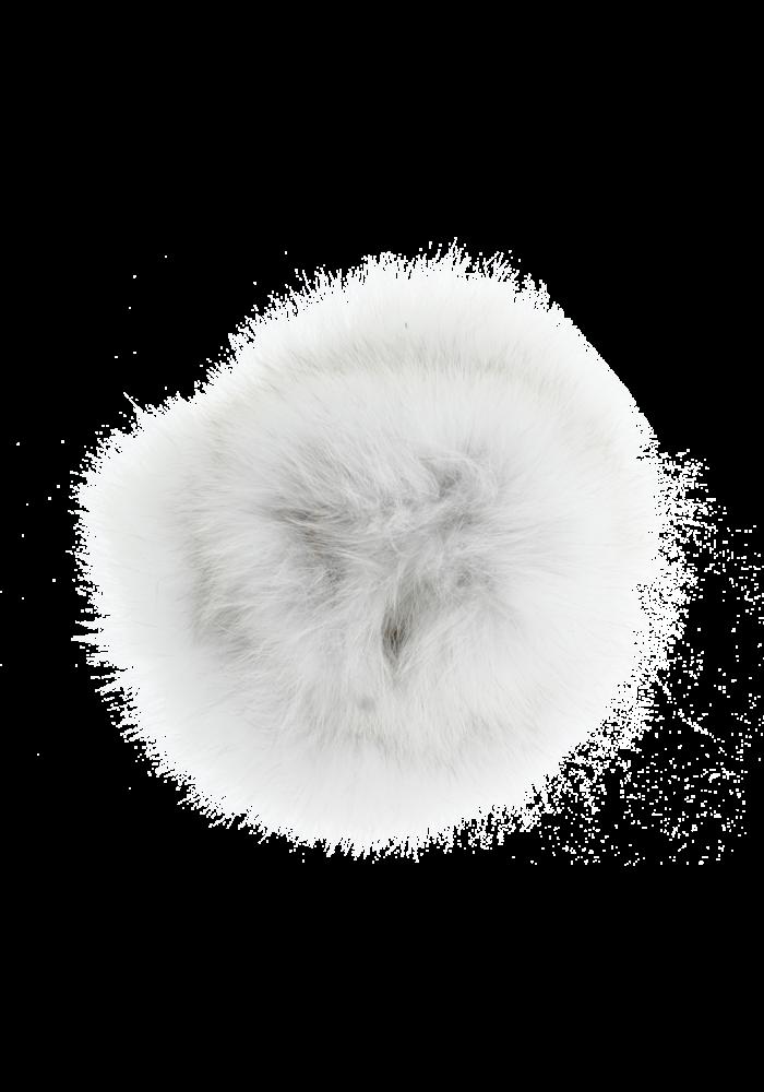 Baby Frr Fur For Stroller In White With Black Tips (Natural Bl)