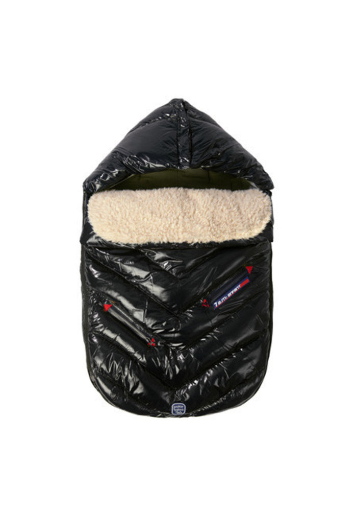 7 A.M. Enfant Polar Igloo Toddler Footmuff In Black - 12 Month-2 Toddler
