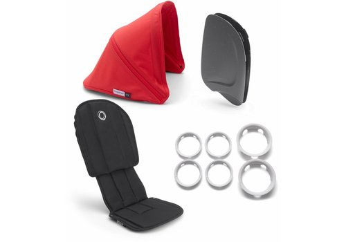 Bugaboo Bugaboo Ant Style Set Complete In Black-Neon Red