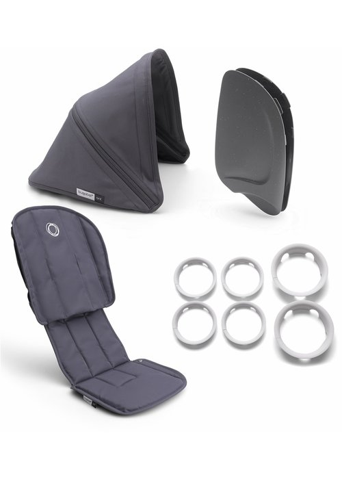 Bugaboo Bugaboo Ant Style Set Complete In Steel Blue-Steel Blue