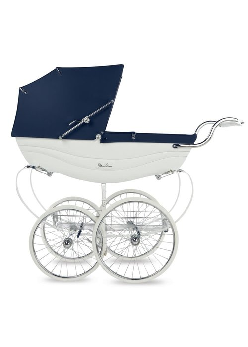 Silver Cross Silver Cross Balmoral Carriage In White-Navy