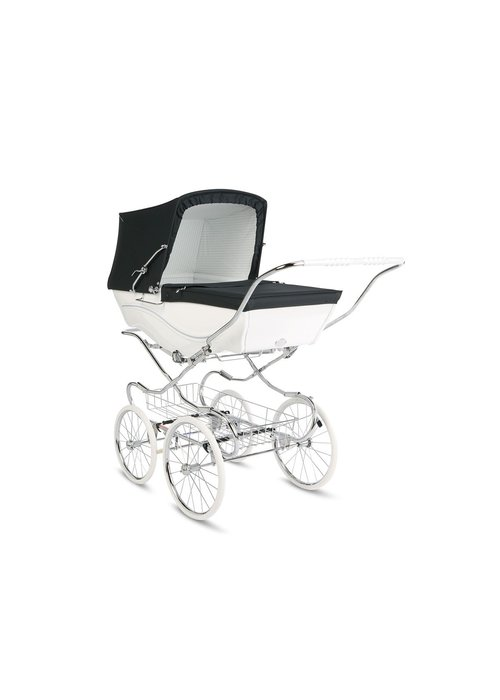Silver Cross Silver Cross Kensington Carriage In White-Navy