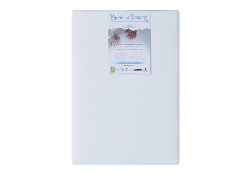 """Bundle Of Dreams Bundle of Dreams Flagship 5"""" 2 Stage Mini Crib Mattress, Organic, Breathable, Hypoallergenic, for Portable Cribs"""