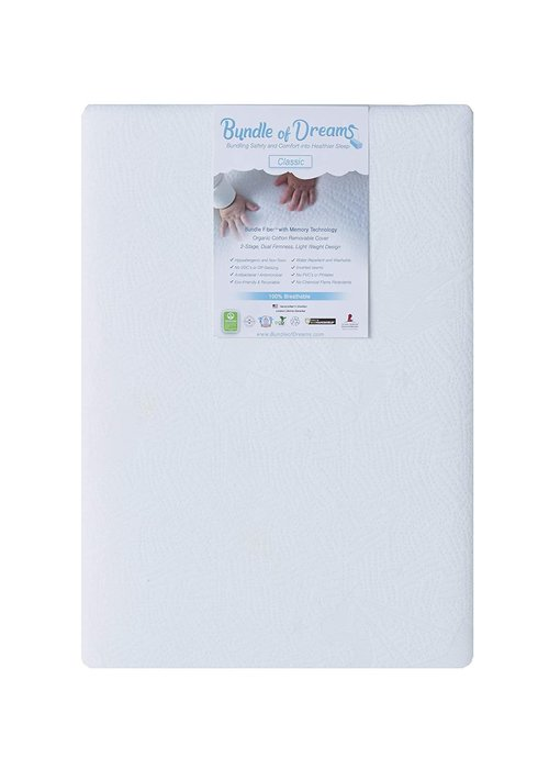 "Bundle Of Dreams Bundle of Dreams Flagship 5"" 2 Stage Mini Crib Mattress, Organic, Breathable, Hypoallergenic, for Portable Cribs"