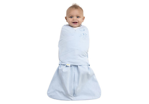 Halo Halo Sleepsack Swaddle 100% Cotton Baby Blue In Newborn