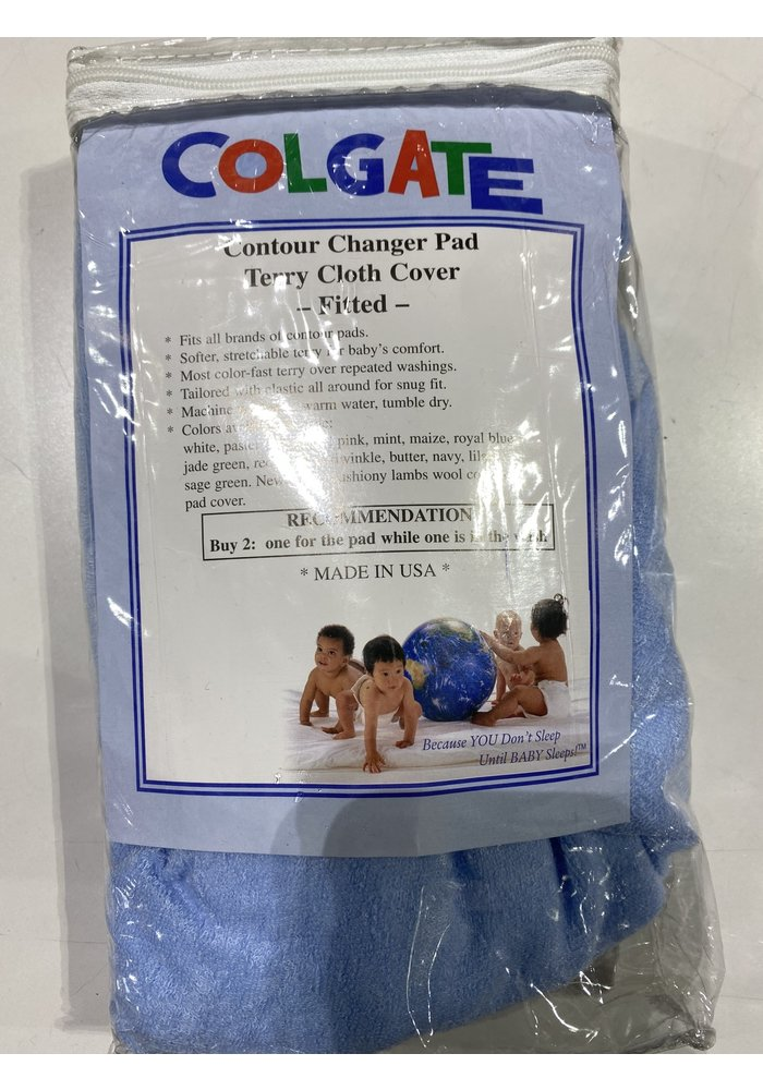 Colgate Terry Contour Changing Pad Cover In Blue