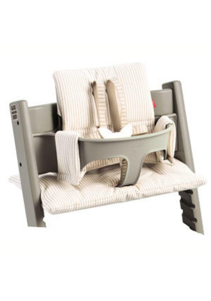 CLOSEOUT !! Stokke Tripp Trapp Cushions In Beige Stripe