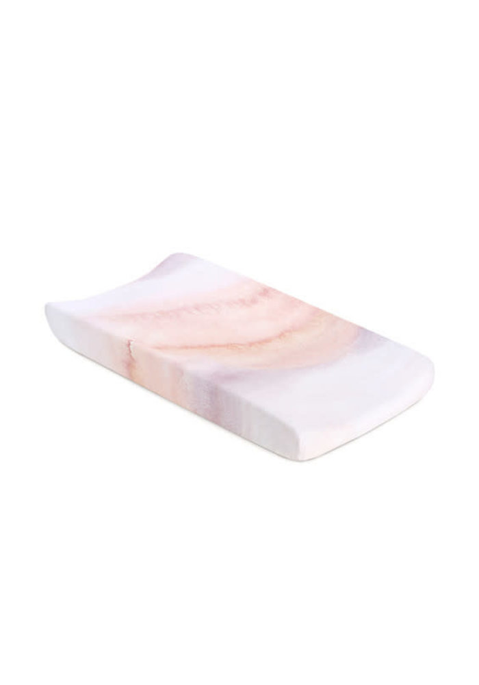 Oilo Changing Pad Sheet In Sandstone (Jersey Fabric)