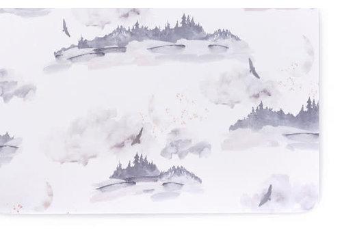 Oilo Oilo Crib Sheet In Misty Mountain (Jersey Fabric)