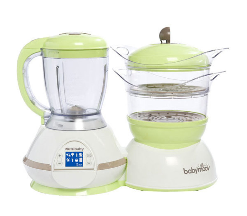 Babymoov Nutribaby Digital Baby Food Steamer - Processor with Multiple Chamber