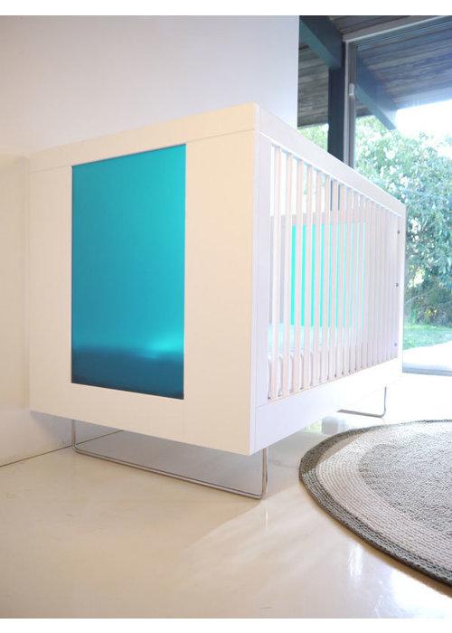 Spot On Square Spot On Square Alto Crib With Aqua Acrylic