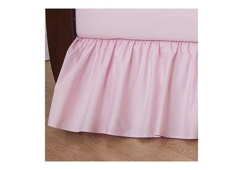American Baby American Baby Crib Dust Ruffle Skirt In Pink