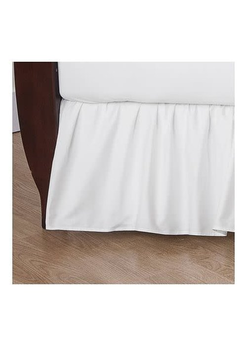 American Baby American Baby Crib Dust Ruffle Skirt In White