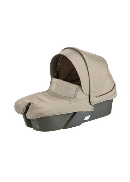Stokke CLOSEOUT!! Stokke Xplory Carrycot With Textile Set In Beige Melange