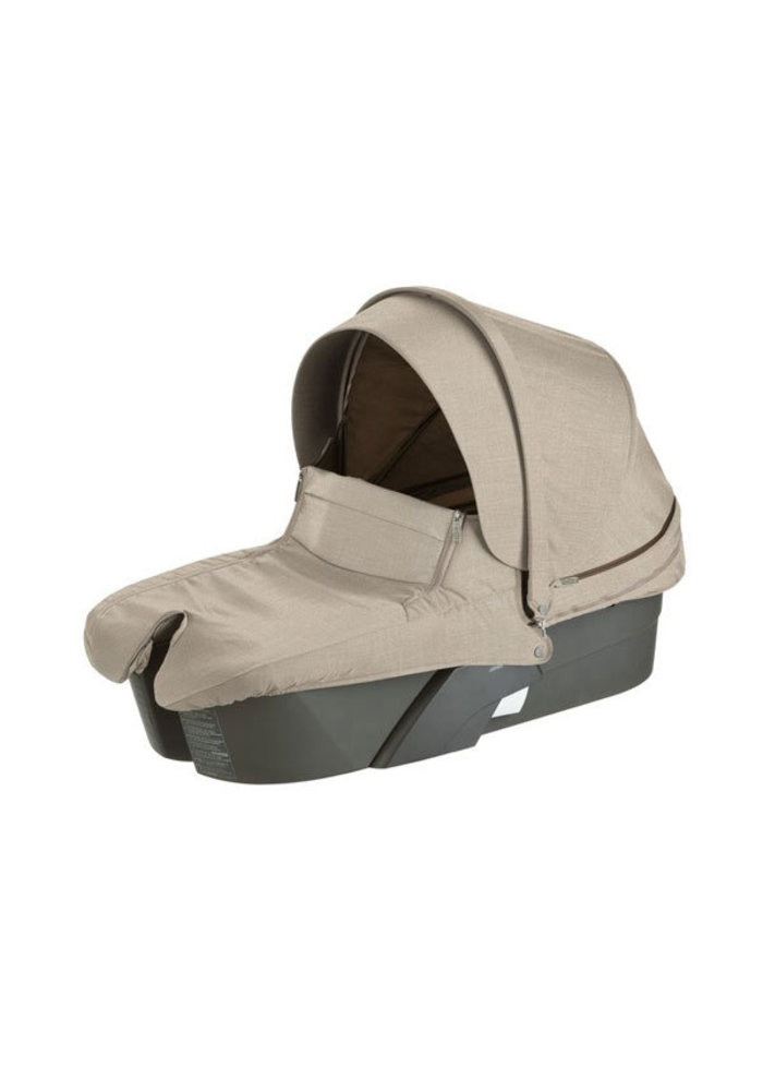 CLOSEOUT!! Stokke Xplory Carrycot With Textile Set In Beige Melange