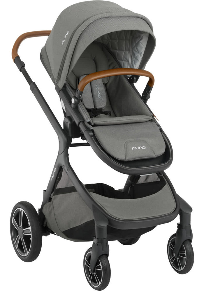 Nuna Demi Grow Stroller In Oxford With Ring Adapter , Rain Cover, Fenders