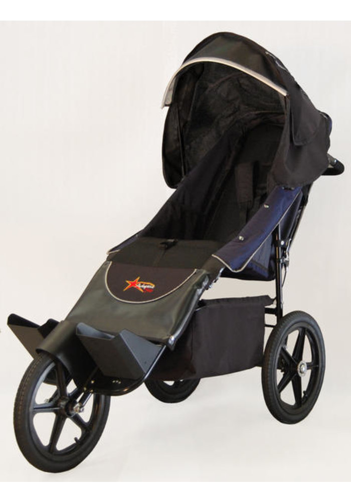Adaptive Star Axiom Endeavour 3 Indoor and Outdoor Mobility Push Chair In Navy