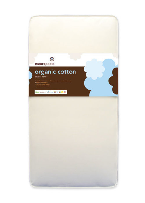 Naturepedic CLOSEOUT!! Naturepedic Crib Mattress Organic Cotton Classic 150 Coils